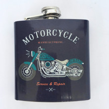 Stainless Steel Vintage Motorcycle Hip Flask Gift