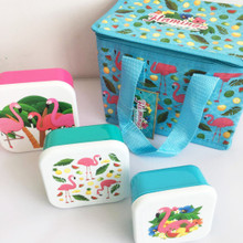 Flamingo Lunch Bag & Lunch Boxes Pack. Children / Adults Food on the Go