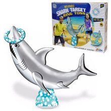 Inflatable Shark Target Ring Toss Childrens Summer Pool Party Game