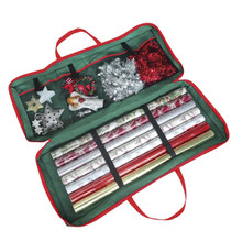 Christmas Gift Wrap Fabric Storage Bag For Present Wrapping Supplies