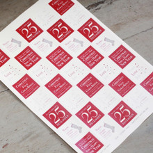 East of India Sheet of 35 Christmas Mixture Red Stickers - Labels
