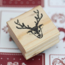 East of India Rubber Stamp - STAGS HEAD