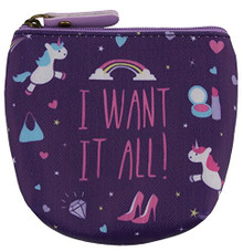 Handy PVC Make Up Bag Purse - Unicorn Design