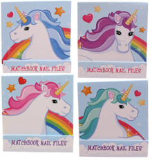 Gossip Girl - Cute Unicorn 4 x Nail File / Emery Boards Matchbooks - Great Gift
