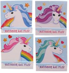 Gossip Girl - Cute Unicorn 4 x Nail File / Emery Boards Matchbooks - Great Gift