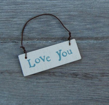 East of India Petite Wooden Love You Gift Tag