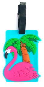 Pink FLAMINGO PVC Luggage Suitcase Tag Bag Identifier by Subitodisponibile