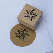 East Of India Small Detailed Star Rubber Stamp Christmas / Craft / Scrapbooking