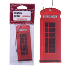 Red Telephone Box Strawberry Fragranced Air Freshener - Birthday Christmas Home Gift present
