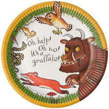 Gruffalo Plates, Paper, Multi-Colour, 9-Inch, Pack of 12