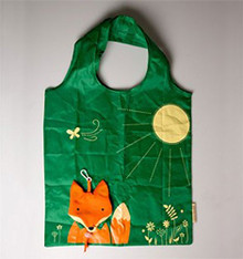 Fox fold away reusable shopping bag