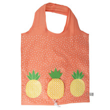 Tropical Pineapple Foldable Shopping Bag