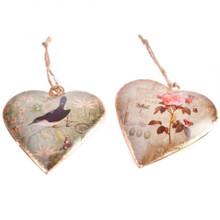 Sass and Belle Vintage Postcard Inspired Heart Decoration - Rose