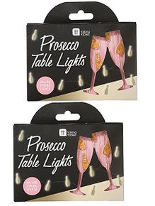 PACK OF 2 Prosecco Table Lights 3m LED String Lights for Parties & Occasions!