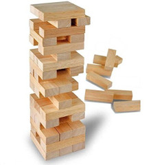 Toy Wooden Tower Tumble Stacking Traditional Game