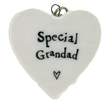 East of India Special Grandad Porcelain Heart Keyring