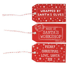 Sass & Belle Red Santas Workshop Gift Tags - Set of 15pcs 4.5x9cm