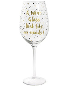 A Wine Glass That Fits My Needs Large Gold Metallic Wine Glass Gift