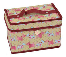 Country Club Sewing and Craft Carry Case / Chest (21 x 14 x 14 cm) Scottie Dogs
