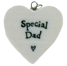 East of India Special Dad Porcelain Heart Keyring