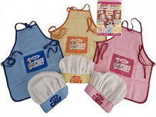 JUNIOR CHEF, CHILDRENS CHEF SET INCLUDES CHEF HAT AND APRON