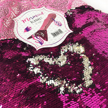NEW Pink Sequin Mermaid Blanket Cosy Foot Warmer Gift