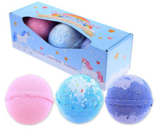 "Unicorn Bath bombs set of 3 ""Enchanted Rainbows"""