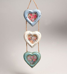 Vintage Delilah Triple Heart Hanging Photo Frame Small Sass & Belle
