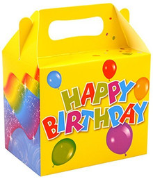 Happy Birthday Party Lunchboxes Cardboard