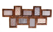 Dark Wood Effect Multi Photo Frame