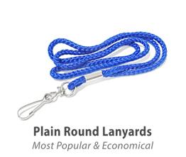Plain Round Lanyards
