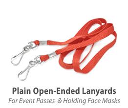 Plain Open-Ended Lanyards