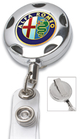 #308 - Chrome Metal Sport Badge Reel