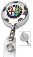 #308 - Chrome Metal Sport Badge Reel