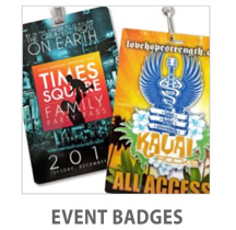 Event Badge Credential Cards