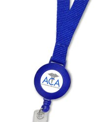 Printed Badge Reel with Plain Lanyard Set : 424-Reel