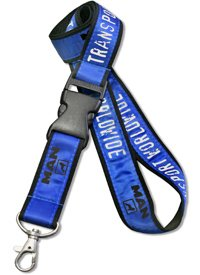 Double Layered Satin Polyester Lanyard, Screen printed - LAN-103W