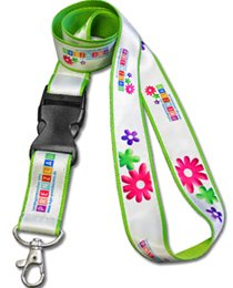 Double layered Satin Polyester Lanyard, sublimated - LAN-105W
