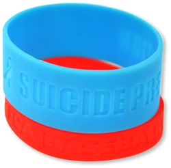PW-602 Debossed Silicone Wristbands