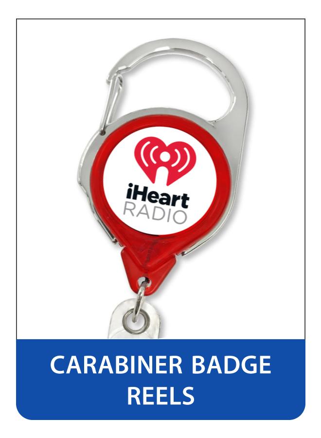 Printed Carabiner Badge Reels