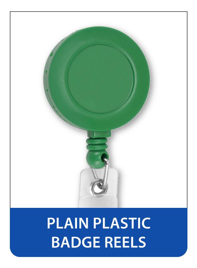 Plain Plastic Retractable Badge Reels