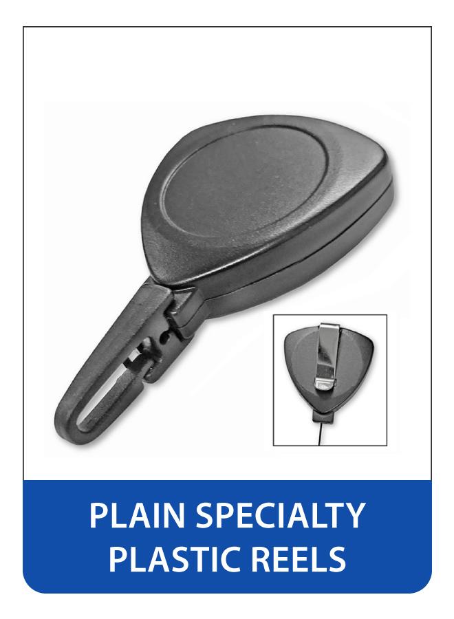 Plain Plastic Retractable Badge Reels - Specialty