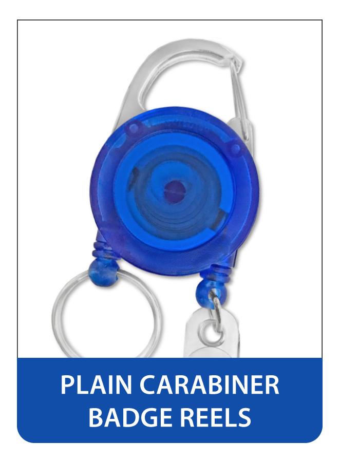 Plain Carabiner Badge Reels