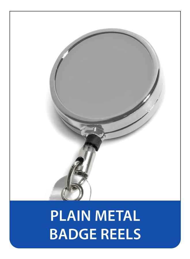 Plain Metal Badge Reels