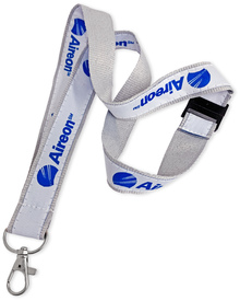 """1"""" Wide Double-Layered Woven-In Lanyard"""