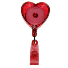Heart-Shaped Badge Reel with Strap