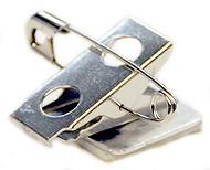 """Swivel  Bulldog Clip & Pin with Adhesive Pad, 1"""""""