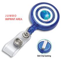 Custom Jumbo Imprint Badge Reel - Full Color Printing