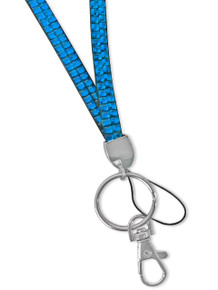 Rhinestone Lanyard - LIGHT BLUE