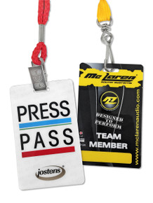 """Event Badge Credential Cards, Full Color - 3.375"""" x 2.125"""""""